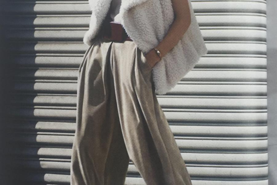 fur vest style