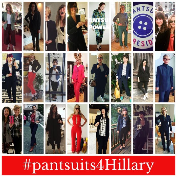 #pantsuitsforhillary scarlet chamberlin