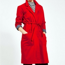 Loup Red Wool Trench
