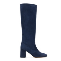 Maryam Nassir Zadeh Navy Suede Boots