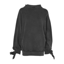Topshop Washed Black Sweatshirt